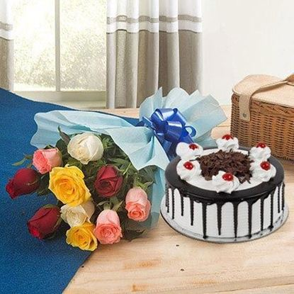 Picture of Cake and Flower Combo 7