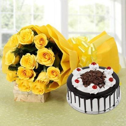 Picture of Cake and Flower Combo 9