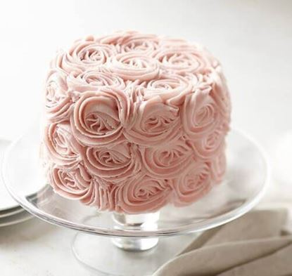 Picture of Pink Rose Chocolate Cake