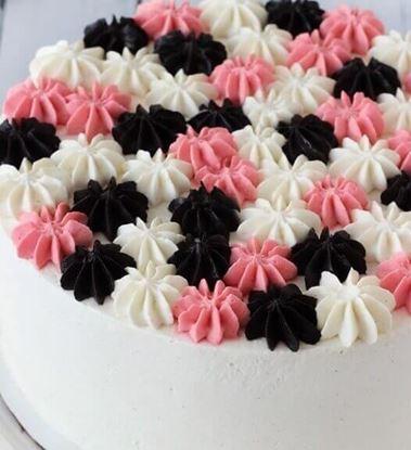 Picture of Chocolate Vanilla Strawberry Cake