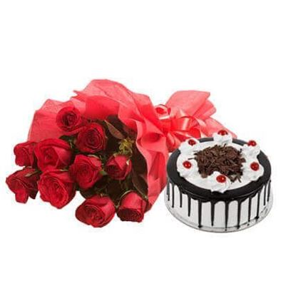 Picture of Cake and Flower Combo 8