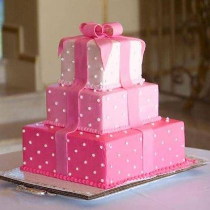 Picture of First Birthday Baby Girl Cake 2