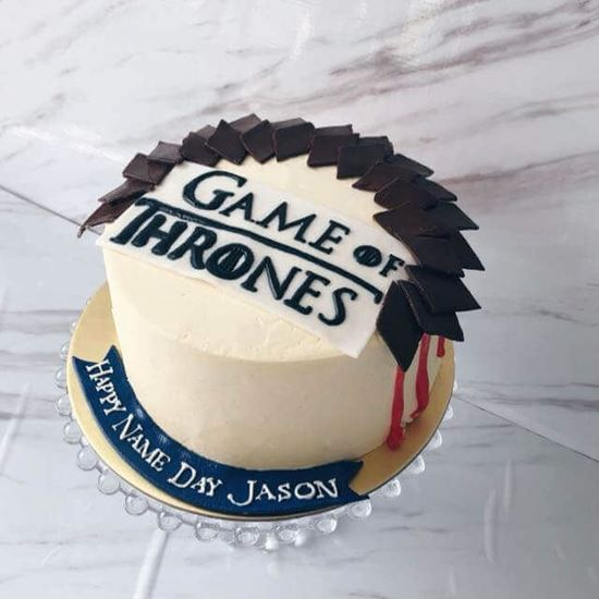 Brilliant Game Of Thrones Cake 1 Online Online Cake Delivery Order Cake Personalised Birthday Cards Cominlily Jamesorg
