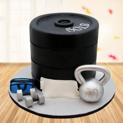 Picture of Gym Theme Cake