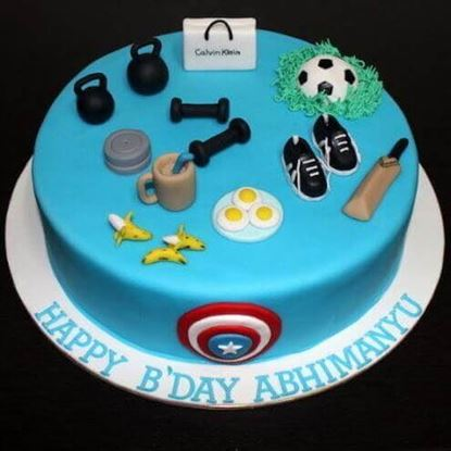 Picture of Gym Theme Cake 1