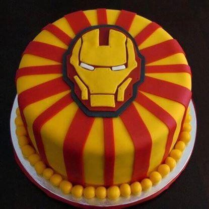 Picture of Iron Man Theme Cake