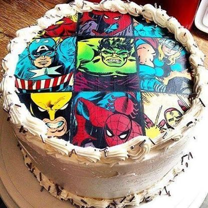 Picture of Marvel Theme Cake
