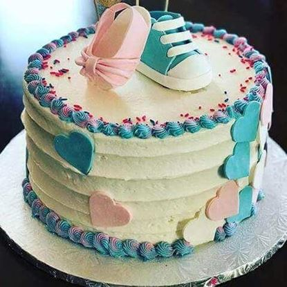 Picture of Pink & Blue Shoe Cake