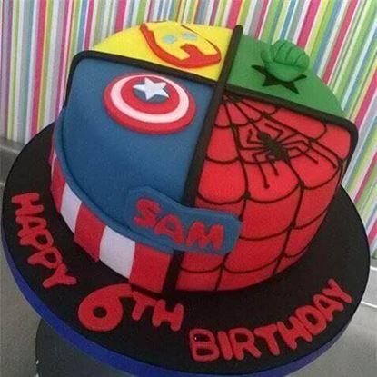 Picture of Superhero Theme Cake