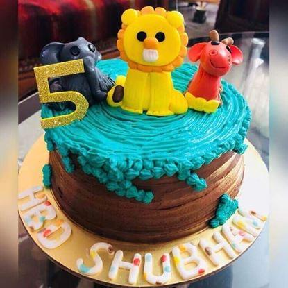 Picture of Jungle Theme Cake