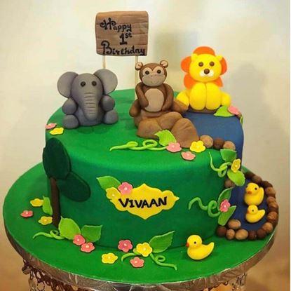 Picture of Jungle Theme Cake 1
