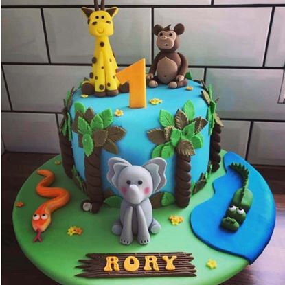 Picture of Jungle Theme Cake 2