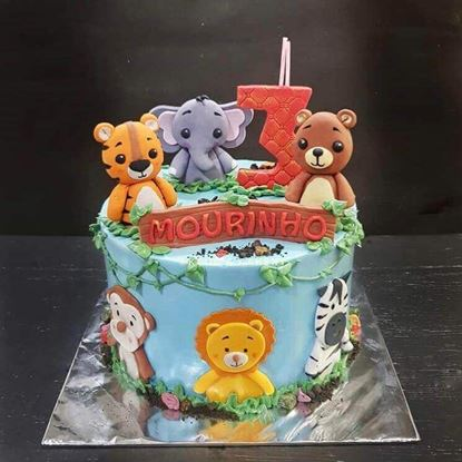 Picture of Zoo Theme Cake