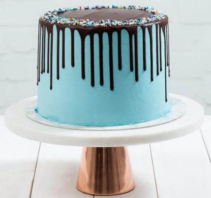 Picture of Blue Chocolate Drip Cake