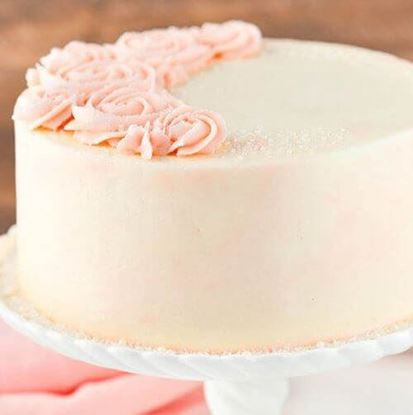 Picture of Rose Water Vanilla Cake