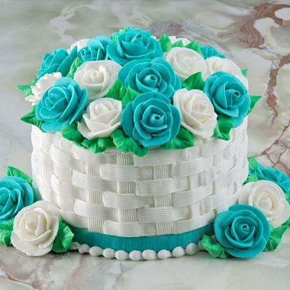 Picture of Vanilla Basket Floral Cake