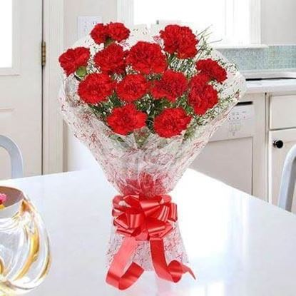Picture of Red Carnation Bouquet