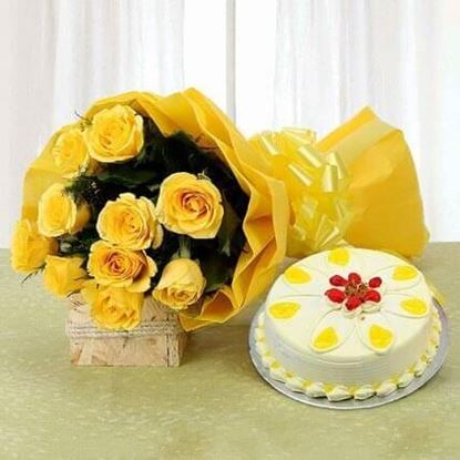 Picture of Cake and Flower Combo 5