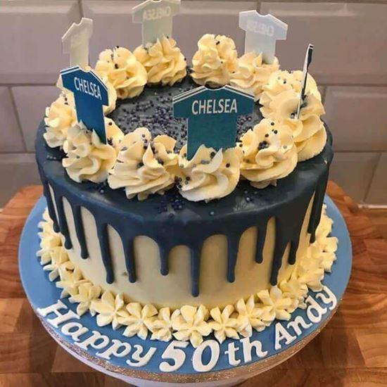 Pleasing Chelsea Cake 2 Infinity Cakes To Cakes Beyond Personalised Birthday Cards Veneteletsinfo