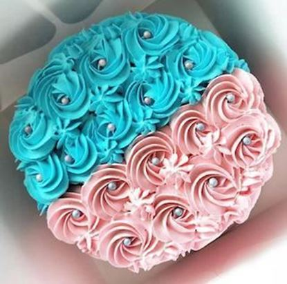 Picture of Half Birthday Gender Reveal Cake