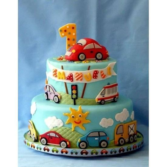 Strange First Birthday Cake 2 Online Online Cake Delivery Order Cake Personalised Birthday Cards Veneteletsinfo