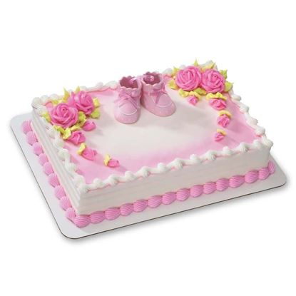 Picture of Pink Baby Shoe Cake