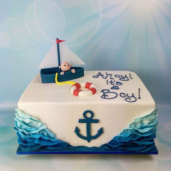 Groovy Nautical Theme Cake Online Online Cake Delivery Order Cake Personalised Birthday Cards Veneteletsinfo