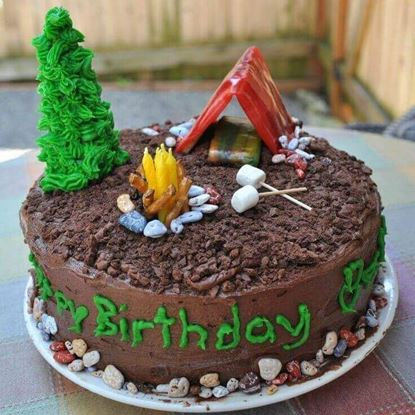 Picture of Camping Theme Cake 1