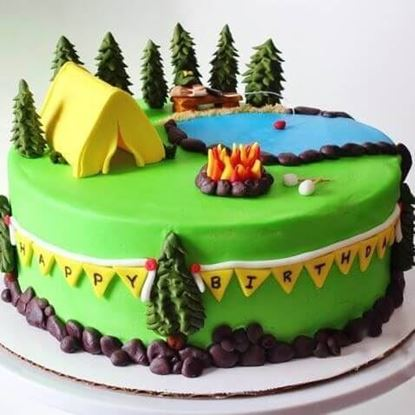 Picture of Camping Theme Cake 2