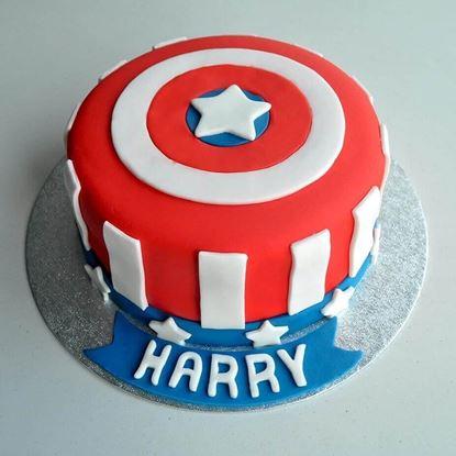 Picture of Captain America Theme Cake 1