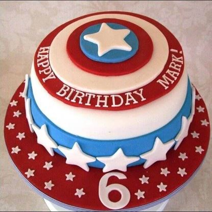 Picture of Captain America Theme Cake 2