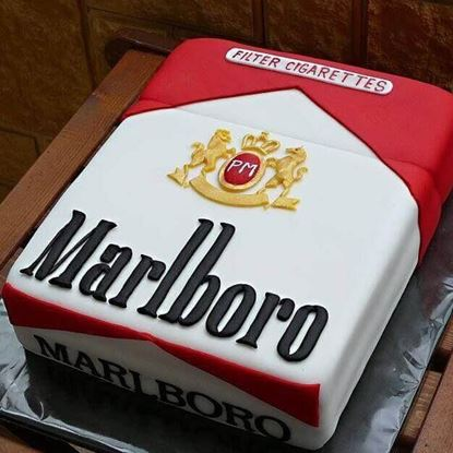 Picture of Cigarette Box Theme Cake