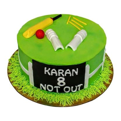 Picture of Cricket Theme Cake 1