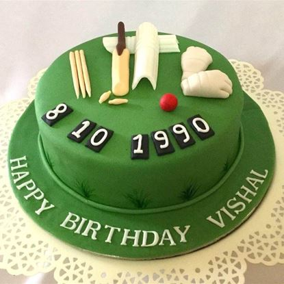 Picture of Cricket Theme Cake 2
