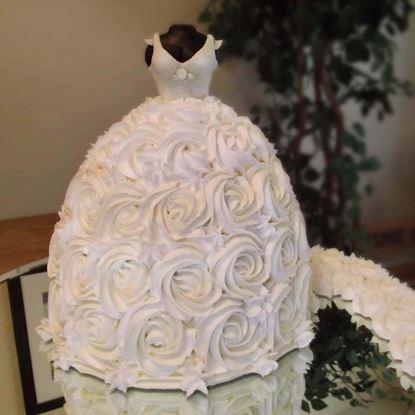 Picture of Designer Dress Theme Cake