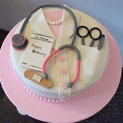 Picture of Doctor Theme Cake 1