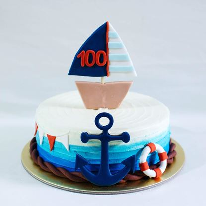 Picture of Ship Theme Cake