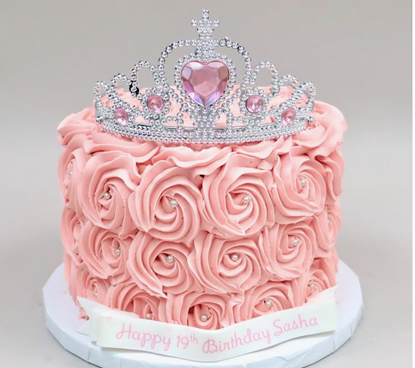 Picture of Barbie Birthday Cream Cake