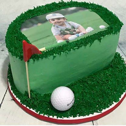 Picture of Golf Half Birthday Cake