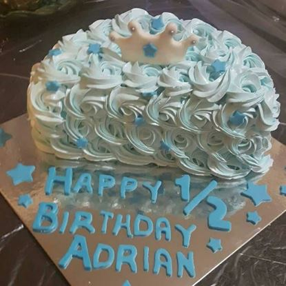 Picture of Baby Boy Half Birthday Cake