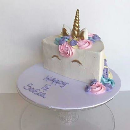 Picture of Cute Unicorn Half Cake