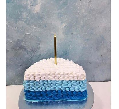 Picture of Blue Ombre Half Birthday Cake