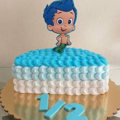 Picture of Cartoon Half Birthday Cake